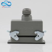 H16B HE 024 2 Rectangular Heavy Air 24 Pin Connectors Plug At The Top Of The