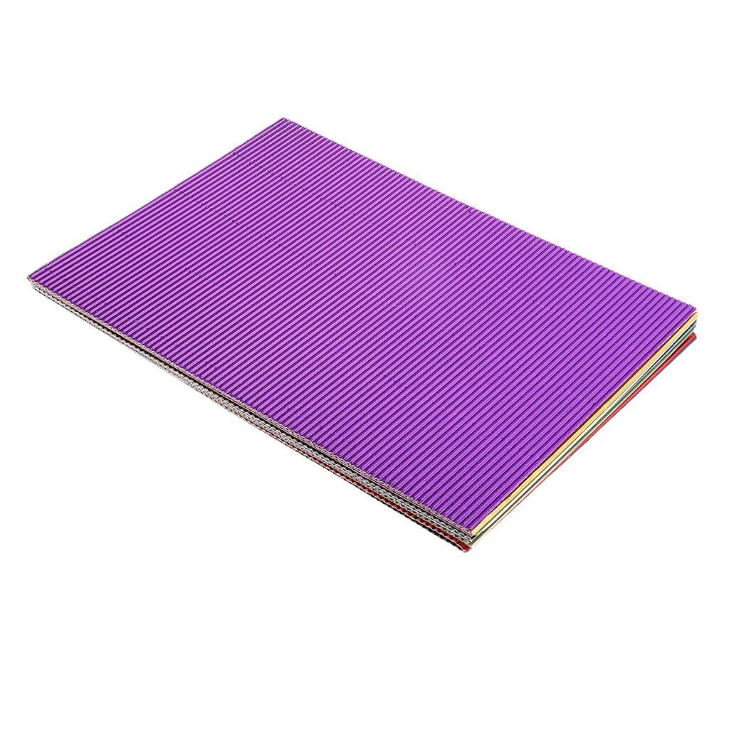10pcs Novelty Corrugated Craft Paper Corrugated Cardboard Colorful 300x210mm