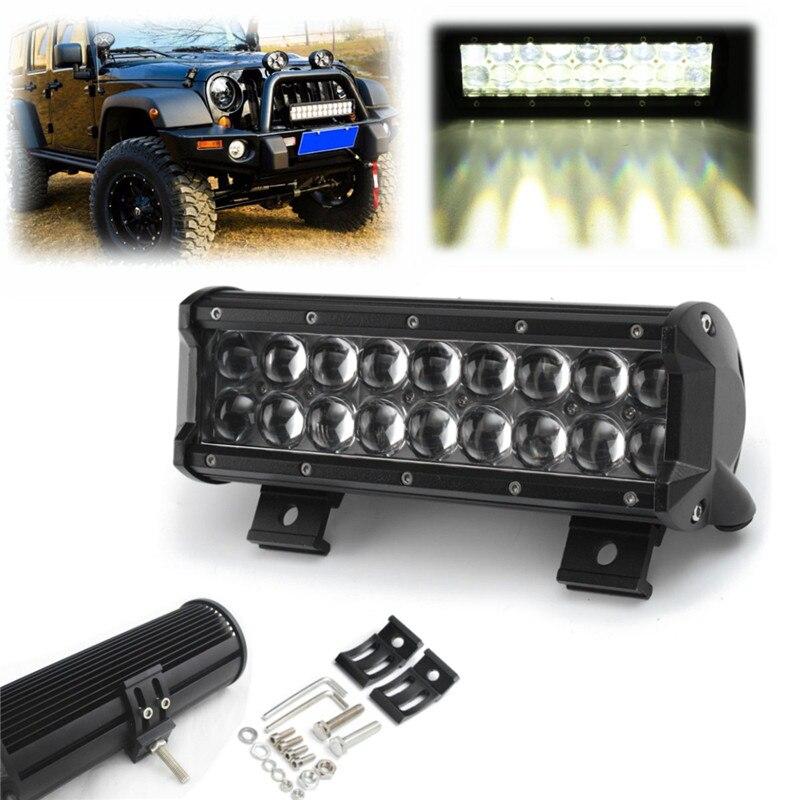 9 Inch 90W LED Light Bar Flood Spot Offroad Work Light Fit 10-30V Truck ATV Spotlight For Truck/Jeep Car Lamp Off Road SUV