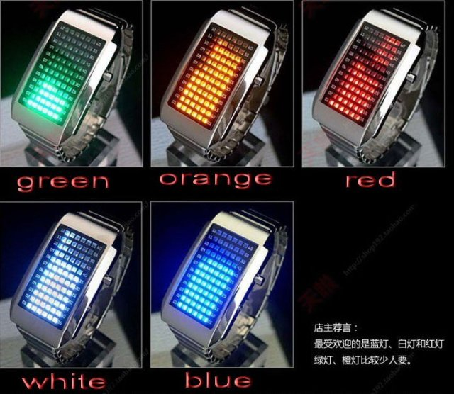 72 LED lights watch man/lady lover's watch fashion new concept design free shipping