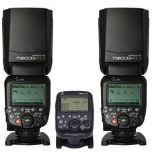 купить 2 x YN600EX-RT Wireless Flash Speedlite + YN-E3-RT Radio Transmitter For Canon 1dx 5diii 6d 7d 70d 60d 50d 40d 700d/t5i 650d/t4i недорого