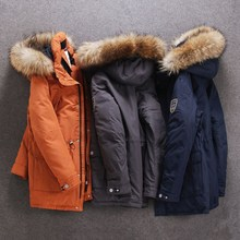 winter Down jacket for men Europe and USA collar duck down jacket Minus 40 degrees warm coat size 48-56 S501 cheap Thick (Winter) SNOW IMAGE SIDM-S501 Wide-waisted Formal zipper Broadcloth Polyester Grey duck down Full Solid Hat Detachable