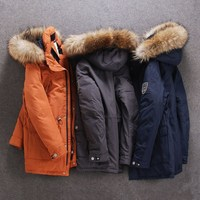 winter Down jacket for men Europe and USA collar duck down jacket Minus 40 degrees warm coat size 48 56 S501