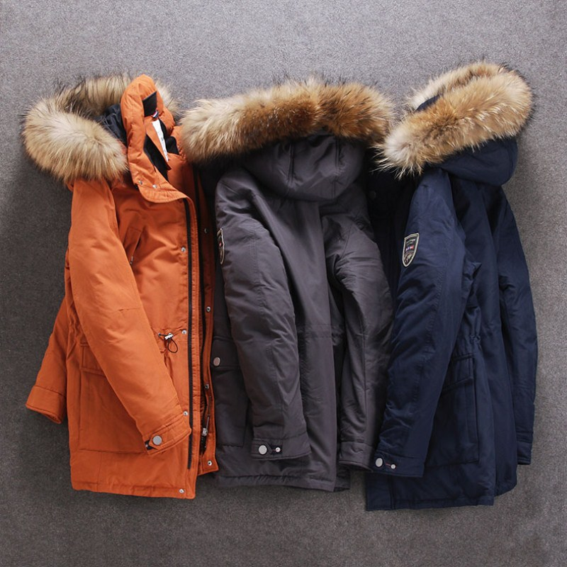 winter   Down   jacket for men Europe and USA collar duck   down   jacket Minus 40 degrees warm   coat   size 48-56 S501