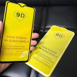 Image 3 - 10 pièces/lot 9D & 5D & Lion plein verre trempé recouvert de colle pour Xiaomi 9 Lite 9SE CC9 CC9E A3 pour Redmi Note 7 8 Pro Film décran