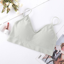 DEWVKV Ladies Sexy Tube Tops Push Up Soft Strap Womens Underwear Solid Comfortable Breathable Black White Pink Hot Sale ZC