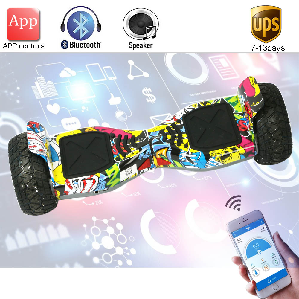 New Super power Hoverboard 8.5 inch App Self Balance Electric Scooter Bluetooth Overboard Oxboard 2 wheel Electric Hover board app controls hoverboard new upgrade two wheels hover board 6 5 inch mini safety smart balance electric scooter skateboard