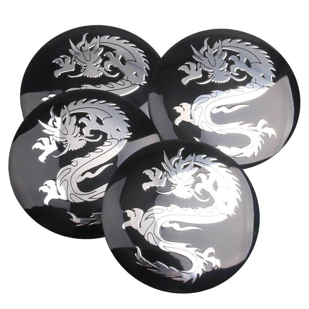4pcs lot dragon logo car steering tire wheel center car sticker hub cap emblem badge decals symbol for honda vw audi bmw in car stickers from automobiles
