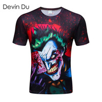 2018 new the Joker 3d t shirt funny comics character joker with poker 3d t shirt summer style outfit tees top full HP1