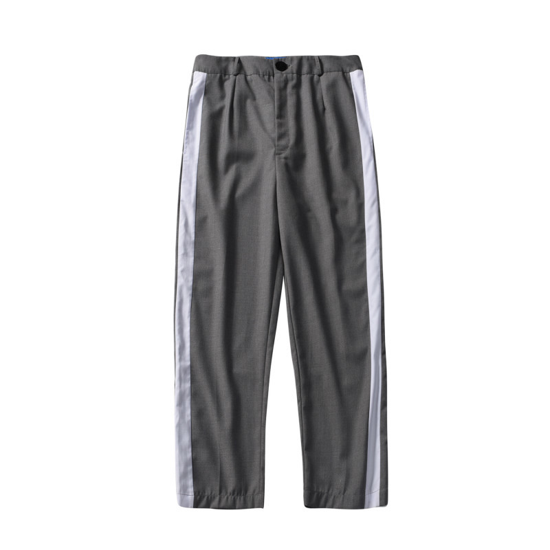 Pants Summer Korean Stripe Thin Leisure Time Easy Nine Part personality city boy trend exquisite hip hop sweatpants streetwear