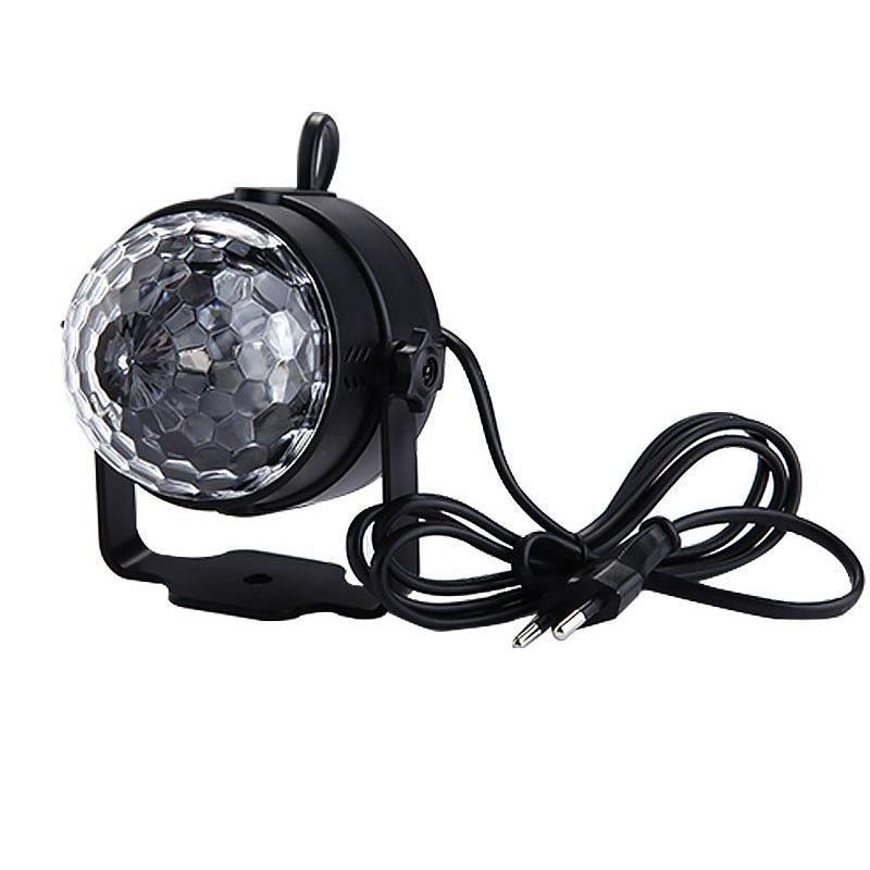 EU / US Plug New RGB 10W Crystal Magic Ball Laser Stage Lighting For Party Disco DJ Bar Light Bulb Lighting Show