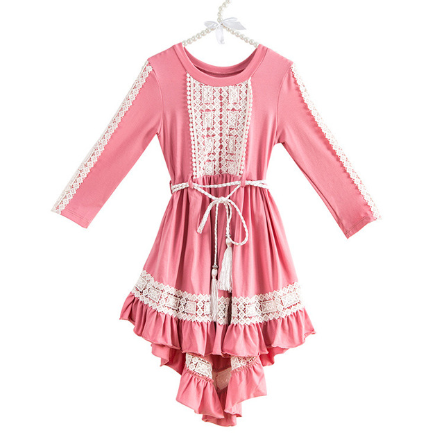 Everweekend Girls Vintage Ruffles Floral Lace Party Dress Candy ...