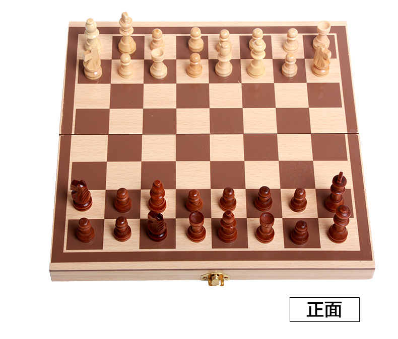 Chess Game Classic Wooden 29x28cm high quality Table, Magnetic Folding Board, packing Wood