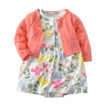 Kids Child Woman clothes 2018 Autumn Bodysuit Costume+Cardigan Units Toddler toddle 2pieces Child Women Garments outfit