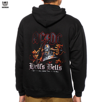 Rocksir AC DC Hell S Bell Black Men Hoodies High Quality 3D Printing Back Side Autumn