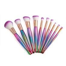 10pcs Makeup Brushes Set Eyeshadow Eyeliner Blush Blending Contour Foundation Cosmetic Beauty Make Up Brush Tools Kit maquiagem