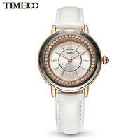 TIME100 Women Watches Leather Strap Diamond Shell Big Dial Waterproof Ladies Quartz Wrist Watch For Women Relogio Feminino