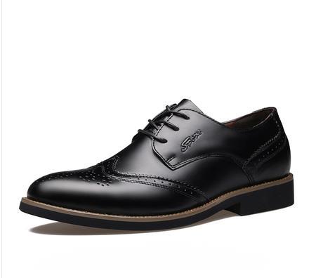 Men British Style Leather Oxford Shoes Men Retro Brogues Men s Genuine Leather sapatos femininos Dress