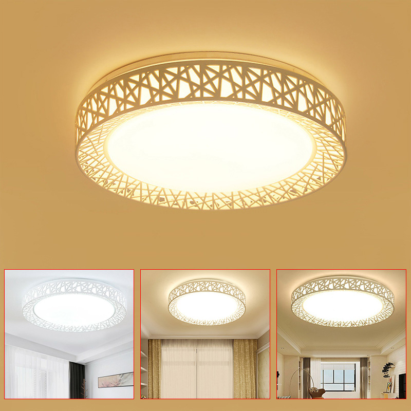 Led Ceiling Light Bird Nest Round Lamp