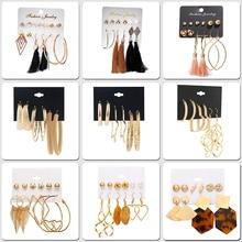 H:HYDE New Fashion Aros Geometric Hoop Earrings For Women Vintage Rhombus Crystal Big Set 2019 Female Bohemian Jewelry