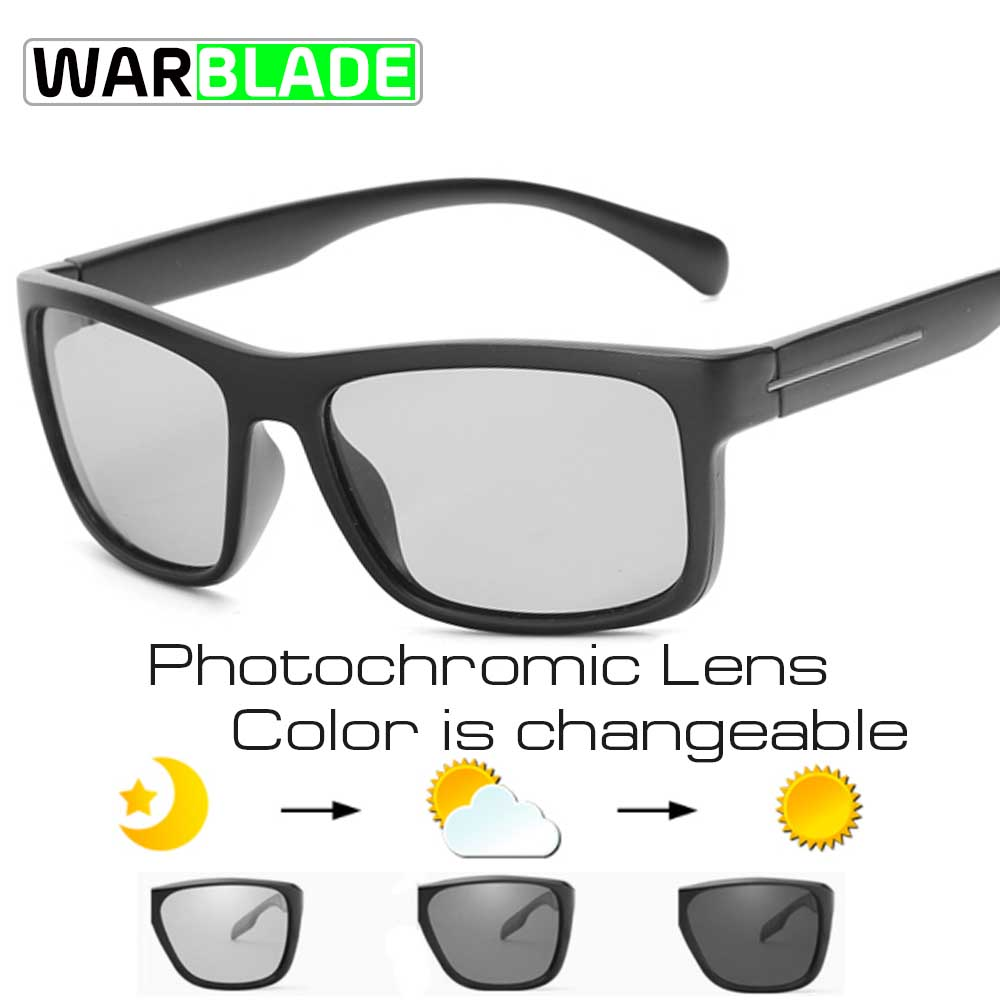 Mens HD Polarized Photochromic Sunglasses Transition Lens