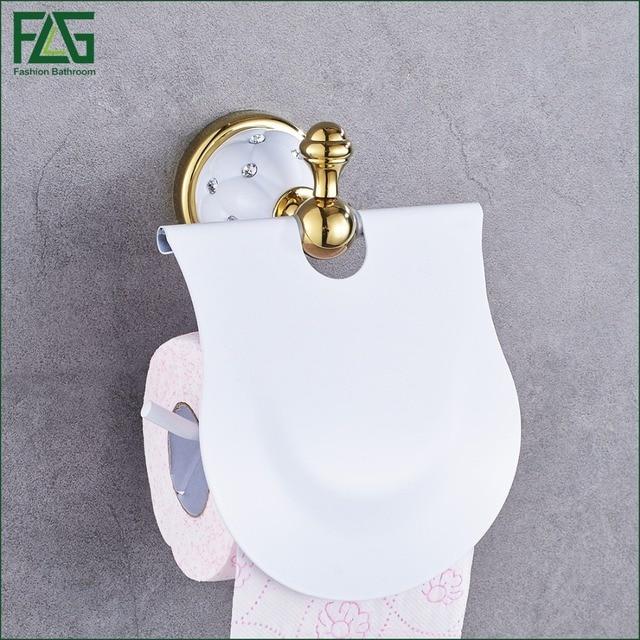 Gold Toilet Paper Holder with diamond,Roll Holder,Tissue Holder ...