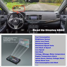 For Mitsubishi Lancer EX Evolution - Car HUD Head Up Display  - Saft Driving Screen Projector Refkecting Windshield car hud head up display for bmw 7 e65 e66 e67 e68 f01 f02 refkecting windshield screen saft driving screen projector