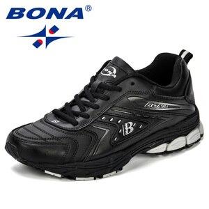 Image 2 - BONA/мужская повседневная обувь; Брендовая мужская обувь; Мужские кроссовки на плоской подошве; Удобная дышащая обувь из микрофибры для отдыха; Трендовый стиль ПРОМО КОД: 250VIP