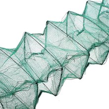 210x19cm Portable Foldable Nylon Crab Shrimp Minnow Fishing Cage Trap Dip Net Sea Fishing Tackle Accessory Tools