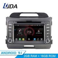 LJDA Android 9.1 Car DVD Player For KIA Sportage 3 2010 2012 2013 2014 015 GPS Navigation 2 Din Car Radio Multimedia WIFI Stereo