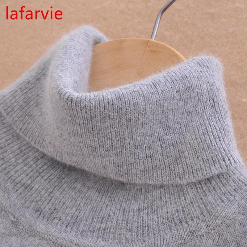 Lafarvie Slim Cashmere Blended Gebreide trui Dames Tops Kwaliteit - Dameskleding - Foto 6