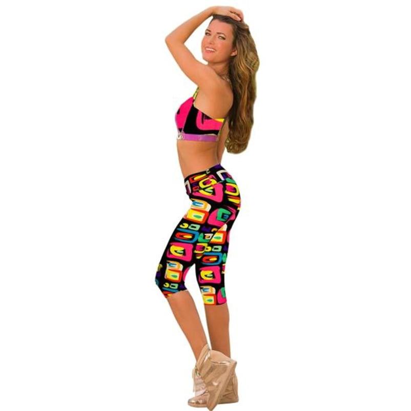 New Legging Women Print Summer Style   Pants     Capris   Women Leggins   Pants   Thin and Soft Mid Calf Legging Female Oc11
