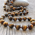 ST0362 Tiger eye necklace Man Mala necklace Tiger eye Knotted men's necklace 40 inches Beaded necklace Jewellery for Mens stone