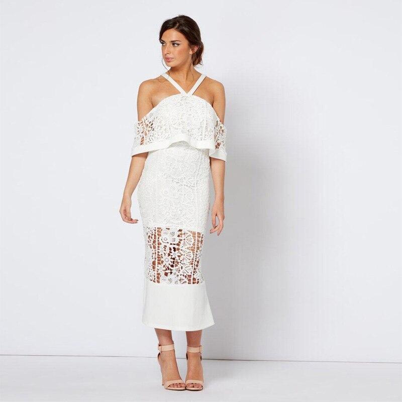 0fd490060df Elegante Vestido Design Halter Midi Neue Hochzeit Anmutigen Frauen Mädchen Kleid  Großhandel Mode Prom Verband Party ...