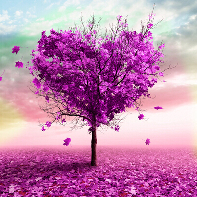 free shipping modern pink trees painting decor pink landscape canvas wall printin painting u0026 calligraphy from home u0026 garden on alibaba - Pink Trees