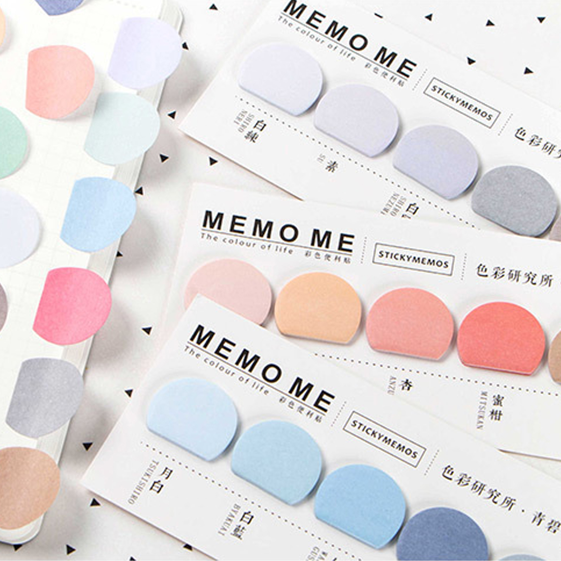 Sticker Bookmarks Memo Pad Page Flags Self-stick Tab Bookmark Marker Pad Office Supplies