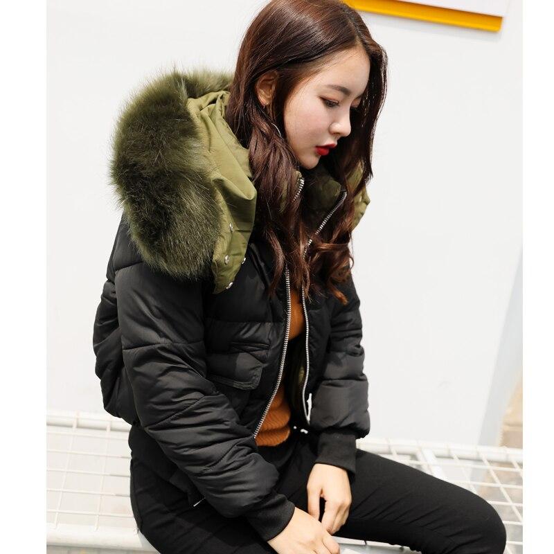 BIBOYAMALL Parkas Women Coats Fashion Warm Winter Jackets Women Fur Collar Parka Hoodies Casual Cotton Outwear Hot Plus Size