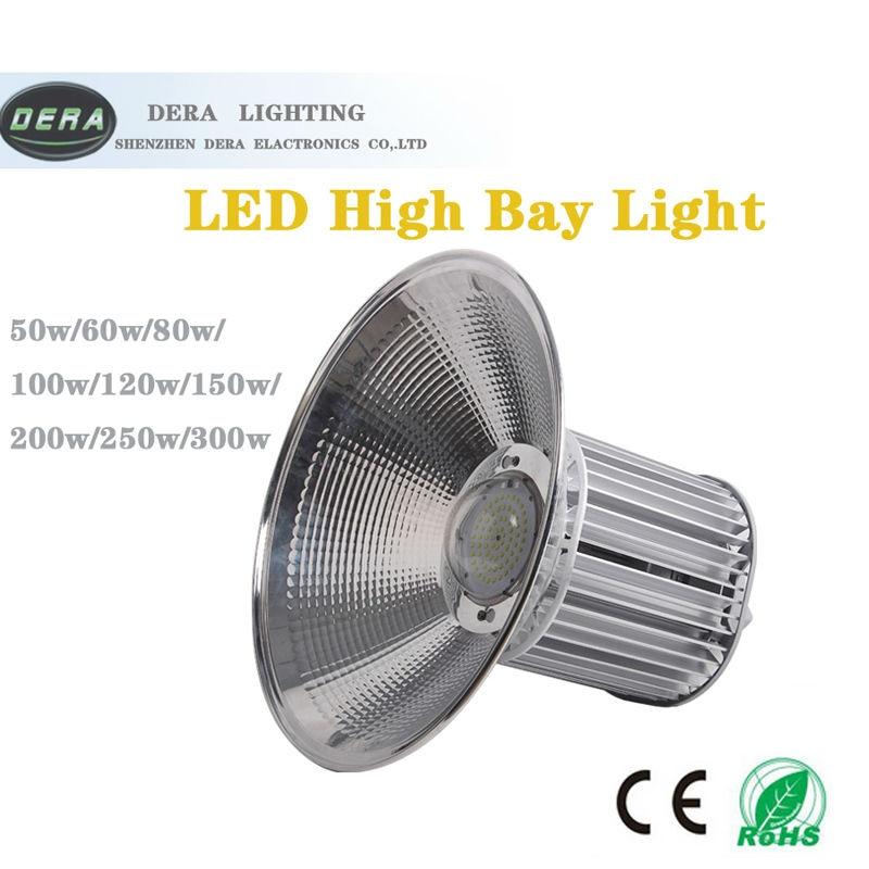150W Lampu LED Industri Terintegrasi Lampu Teluk Tinggi Gudang Langit-langit Pabrik Lantai Pencahayaan LED Pertambangan Putih