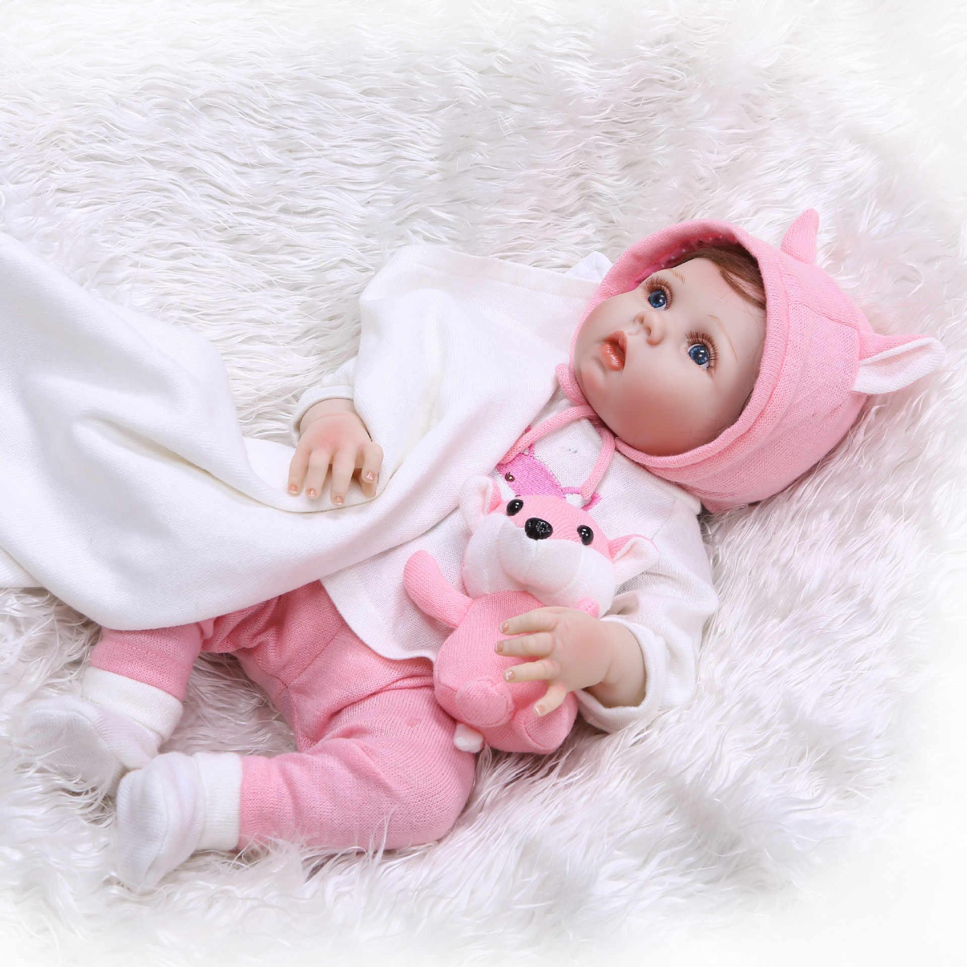55 см Reborn Baby Dolls виниловый силиконовый реалистичный живой Мягкий Младенец Новорожденный малыш игрушки дети мальчик девочка Рождество подарки на день рождения