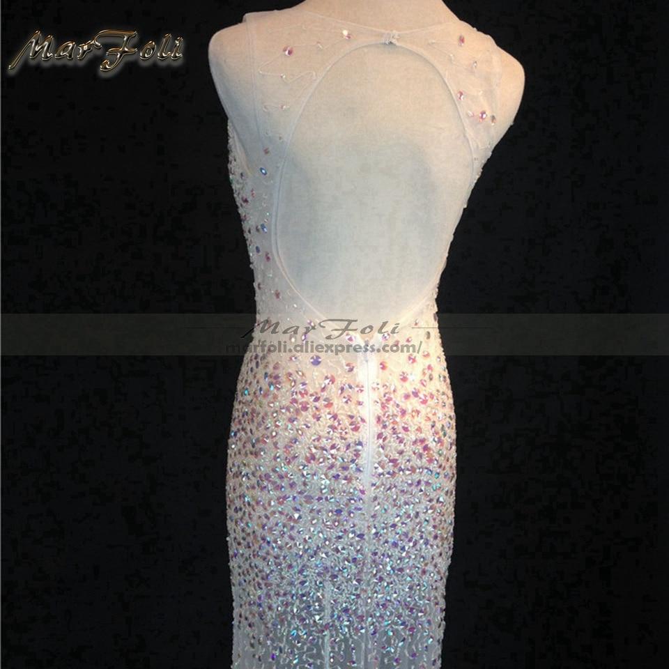 Floor-Length Full Beads manual Gauzy Sexy Star full dress Evening dress Cocktail dress Night entertainment venue dress LF0088