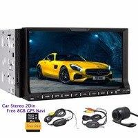 Free camera double 2din gps car stereo Autoradio bluetooth FM AM RDS digital Receiver 7inch 2din car dvd player HeadUnit Radio