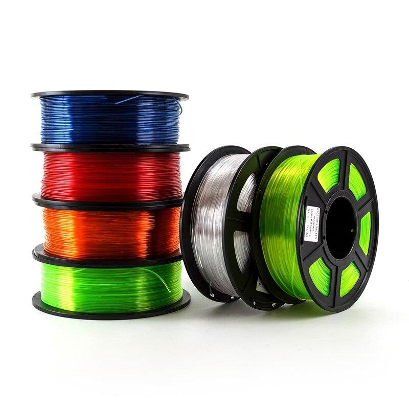 Material plástico petg dos materiais de consumo do filamento para a impressora 3d do filamento petg 1.75mm 1kg/2.2lbs