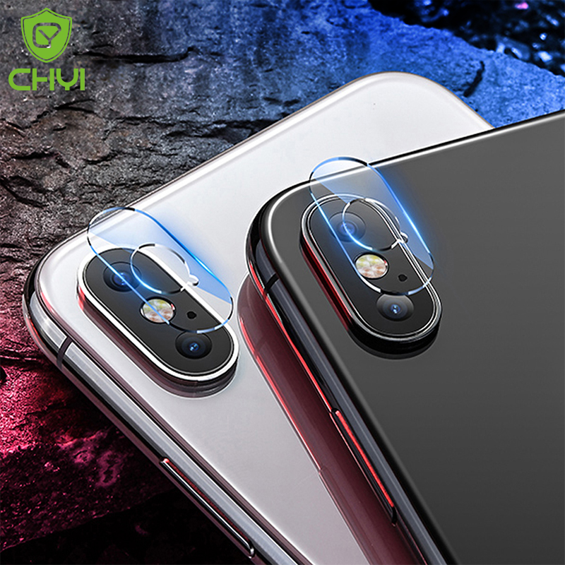 CHYI Premium Tempered Glass For iphone XS max lens