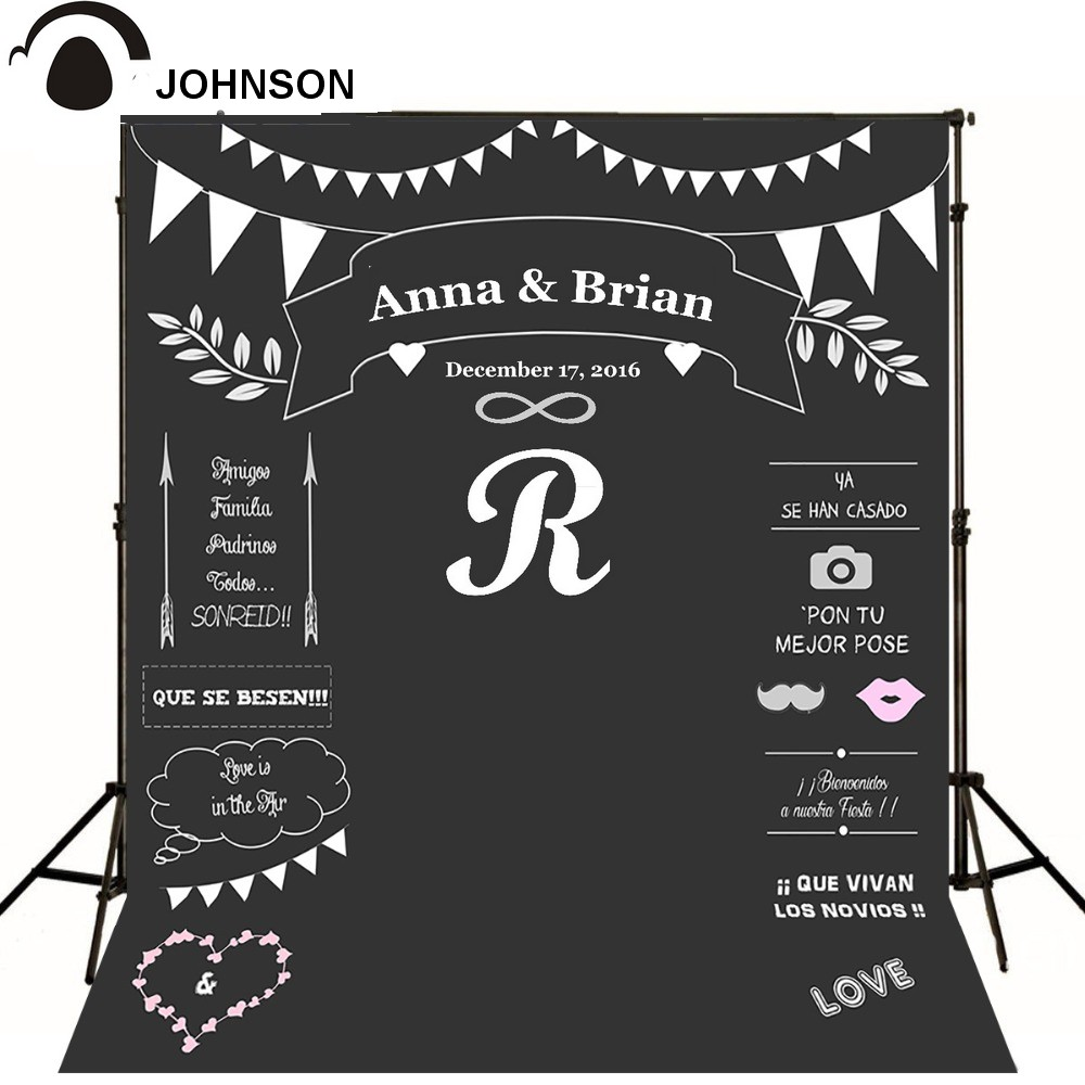 customized size Name Date chalk Backgrounds High grade Vinyl cloth Computer printed wedding photocall backdrop