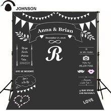 Tamanho personalizado Nome Data giz Fundos de Alta-grade pano Computer impresso photocall de casamento pano de fundo de Vinil