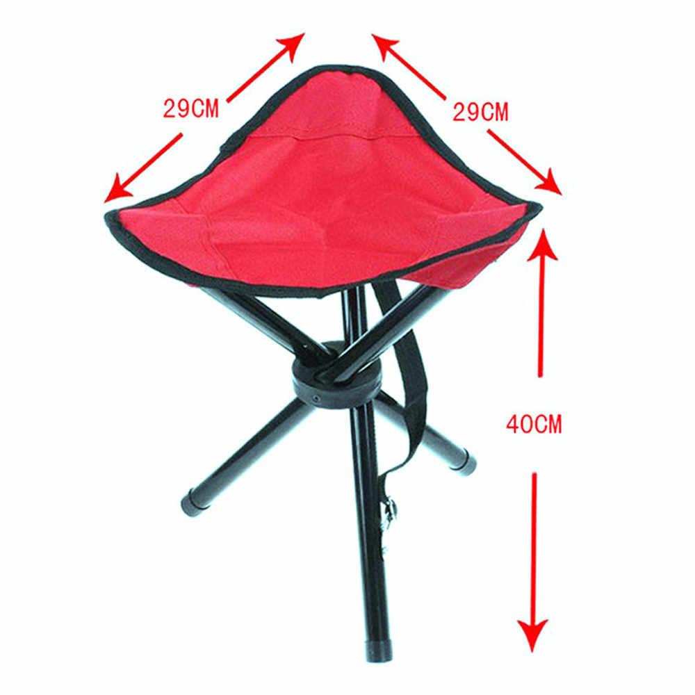 التخييم كرسي بلا ظهر قابل للطي المحمولة 3 الساقين كرسي ترايبود مقعد في الهواء الطلق أكسفورد القماش في الهواء الطلق المحمولة الصيد كرسي كرسي قابل للطي A30527