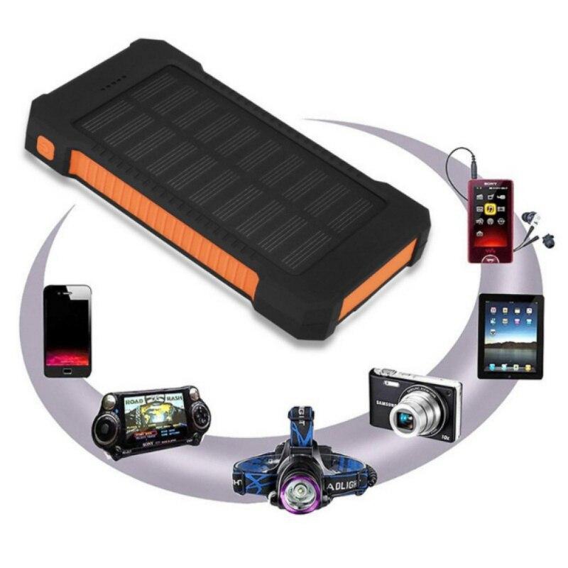 Battery-Charger Compass Solar-Power-Bank Waterproof Portable 50000mah USB LCD LED Dual-Usb