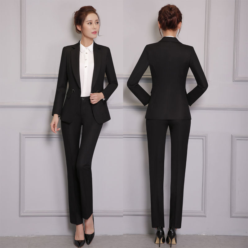 Online Shop New Professional Pantsuits With Jackets And Pants for ...