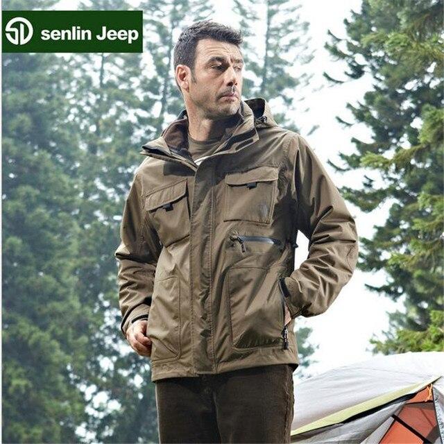 Sen Lin AFS JEEP Fleece Inner Thickness Men's Two layers Professional Man's Casual Winter Warmly Waterproof Jacket Coat Jacket