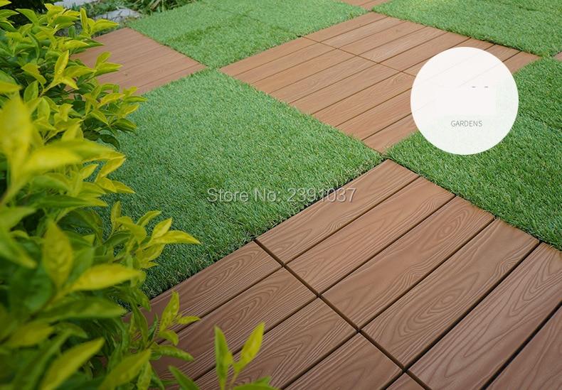11pcs 30 30 2 6cm Balcony Decoration Composite Flooring Tiles